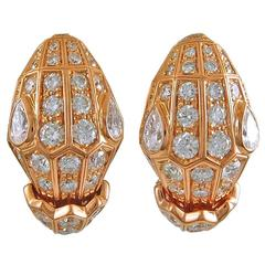 Bulgari Serpenti Diamond Earclips