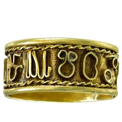 Antique English Georgian Gold Zodiac Ring