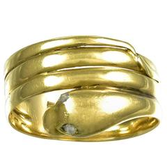 Antique Victorian Gold Snake Ring