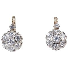 14 Karat Gold and Cubic Zirconia Earrings