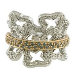 Diamonds Gold Fantasy Ring