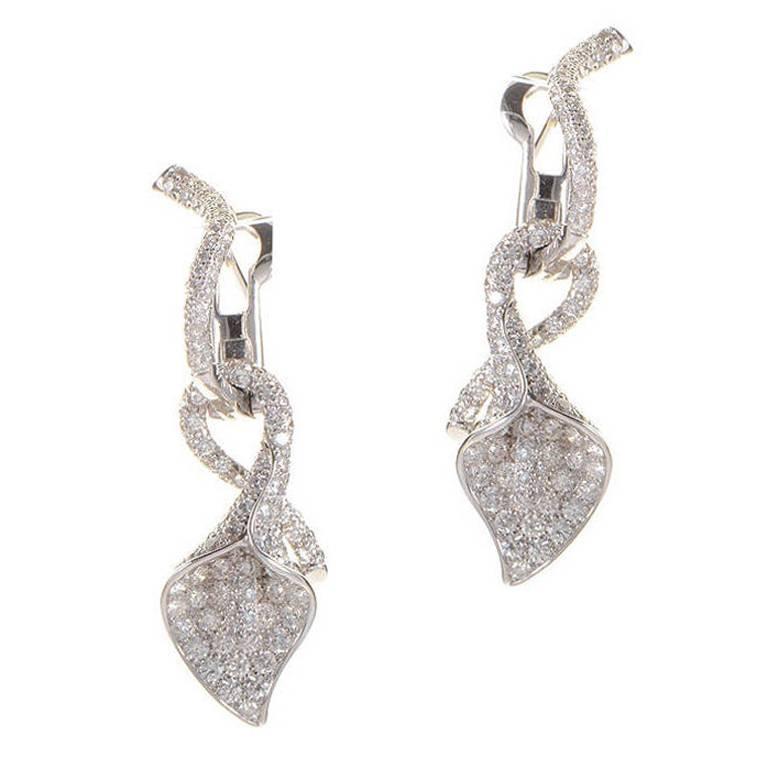 asprey gold calla drop earrings at 1stdibs