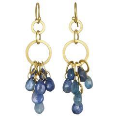 Faye Kim Umba Blue Sapphire Earrings
