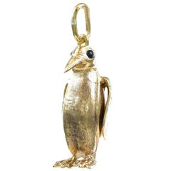 Gold Penguin Charm