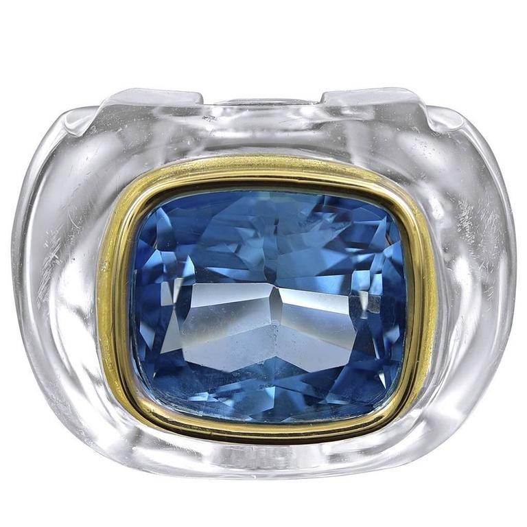 SEAMAN SCHEPPS Crystal Topaz Gold Ring