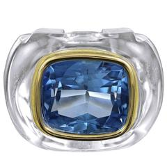 SEAMAN SCHEPPS Crystal Topaz Gold Ring