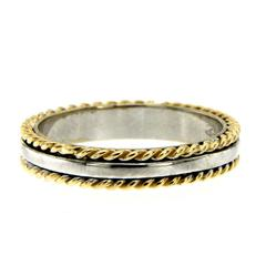 Rope Design Gold Band Ring