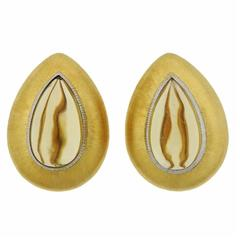Buccellati Gold Citrine Teardrop Earrings