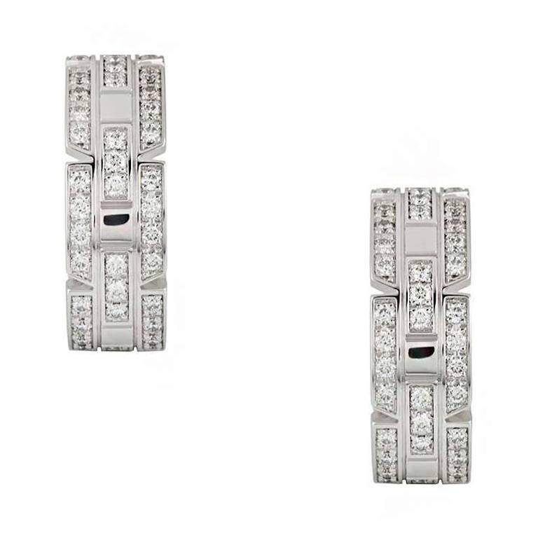 Cartier Links and Chains Maillon Diamond Earrings 1