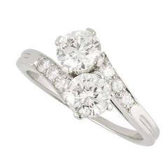 Tiffany & Co. Crossover Diamond Platinum Ring