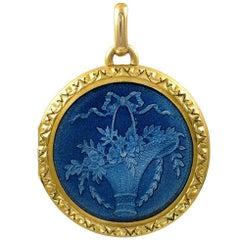 Gorgeous Antique Gold and Enamel Locket