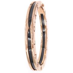 Rose Gold Black Ceramic Bangle Bracelet