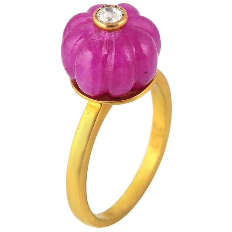 Ruby Diamond Gold Ring