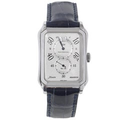 Rene Marchal Stainless Steel Heure Sautante Mecanique Wristwatch