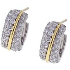 Cartier Diamond Hoop Earrings