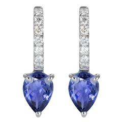 Dubini Theodora Iolite And Diamonds White Gold Earrings