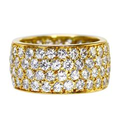 1970s Van Cleef & Arpels Diamond and Gold Band Ring
