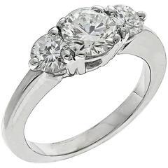 Enticing 0.55 Carat Diamond Gold Engagement Ring