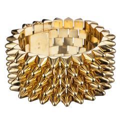 Studded 18 Karat Yellow Gold Bracelet