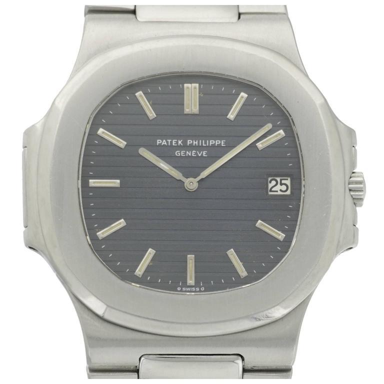 Patek Philippe Stainless Steel Nautilus Wristwatch Ref. 3700  For Sale