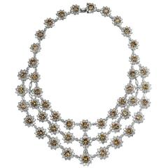 133.33 Carat Important Color Diamond Necklace