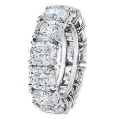 Large Cushion Cut Diamond Wedding Band For Sale at 1stdibs