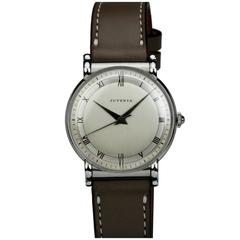 Juvenia Stainless Steel Calatrava Style Manual Wind Wristwatch