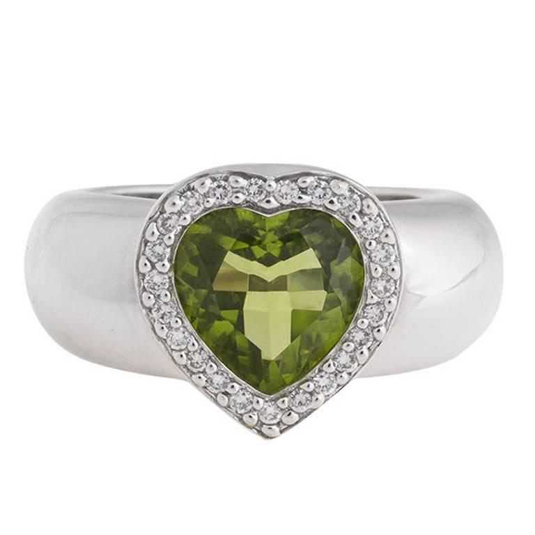 Piaget Prasiolite Diamond White Gold Ring