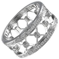 TIFFANY & CO.  Diamond Platinum Ring