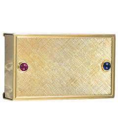 Gold Double Pill Box