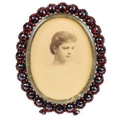 Antique Garnet Picture Frame