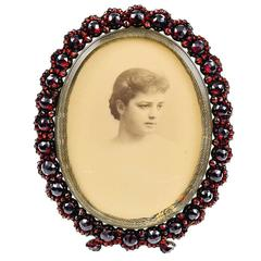 Antique Garnet Picture Frame