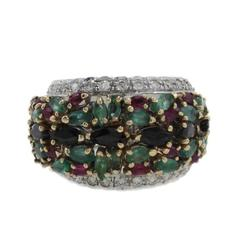 Luise Diamonds, Rubies, Emeralds, Blue Sapphires Band Ring