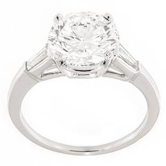 Campanelli & Pear 3.02 Carat GIA Certified Diamond Platinum Ring