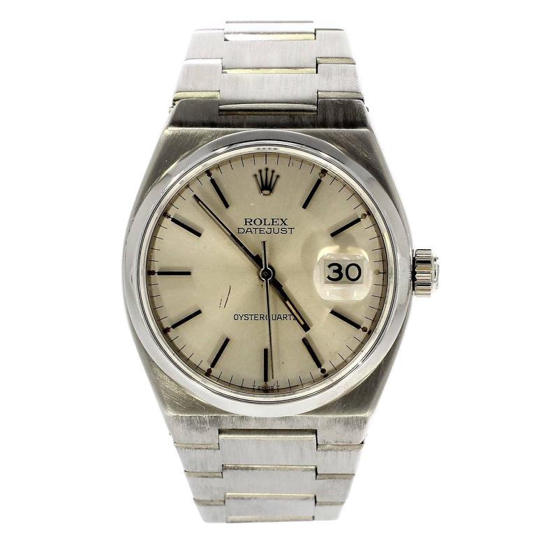 Rolex Stainless Steel Oysterquartz Wristwatch Ref 17000