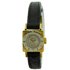Gubelin Lucerne Ladies Yellow and White Gold Art Deco Manual Wind Watch