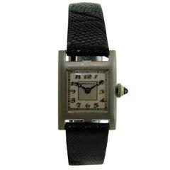 Marcus & Co. Ladies Platinum Dress Style Watch 1930s