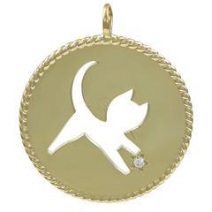Cartier Gold Cat Charm