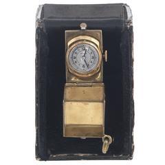 Wyler Vetta Gilt Enamel Dice Manual Wind Pocket Watch