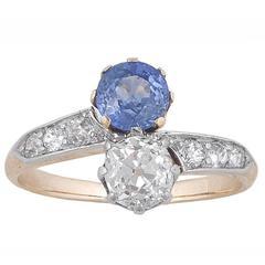 1905s Sapphire Diamond Gold Platinum