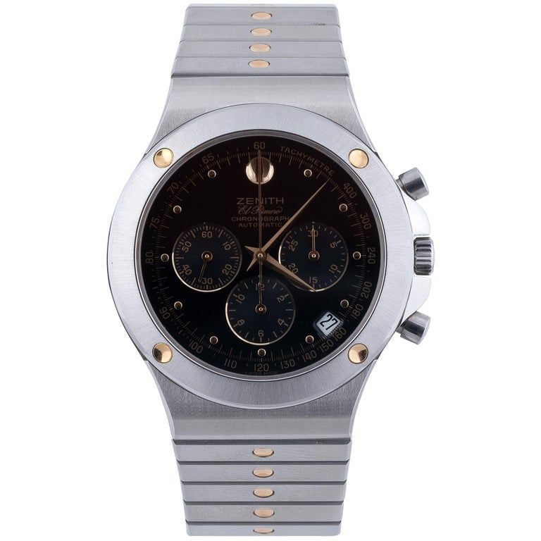 Zenith Stainless Steel Primero Pacific Chronograph Cal 400 Automatic Wristwatch