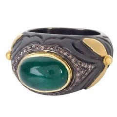 Unique Emerald and Diamond Ring