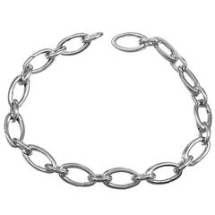 Tiffany & Co. White Gold Link Charm Bracelet