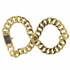 Verdura Yellow Gold Curb Link Double Wrap Watch Bracelet