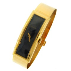 Gucci Ladies Yellow Gold Bracelet Wristwatch 1970s Manual Wind