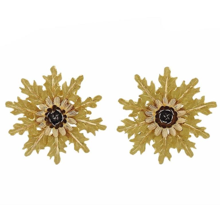 Buccellati Gold Large Flower Earrings