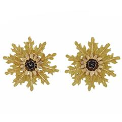 Buccellati Gold Large Flower Earrings