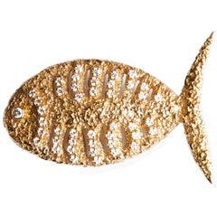 1963 Georges Braque Cut Diamond Gold 'Scamander' Brooch