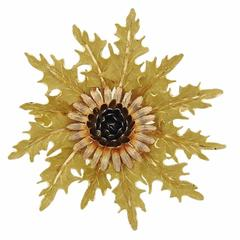 Buccellati Large Gold Brooch Pin