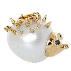 Hedgehog Diamond Australian Pearl Gold Pendant